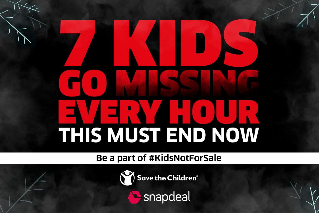 ea659a4fb Save The Children   Snapdeal partner to highlight child trafficking