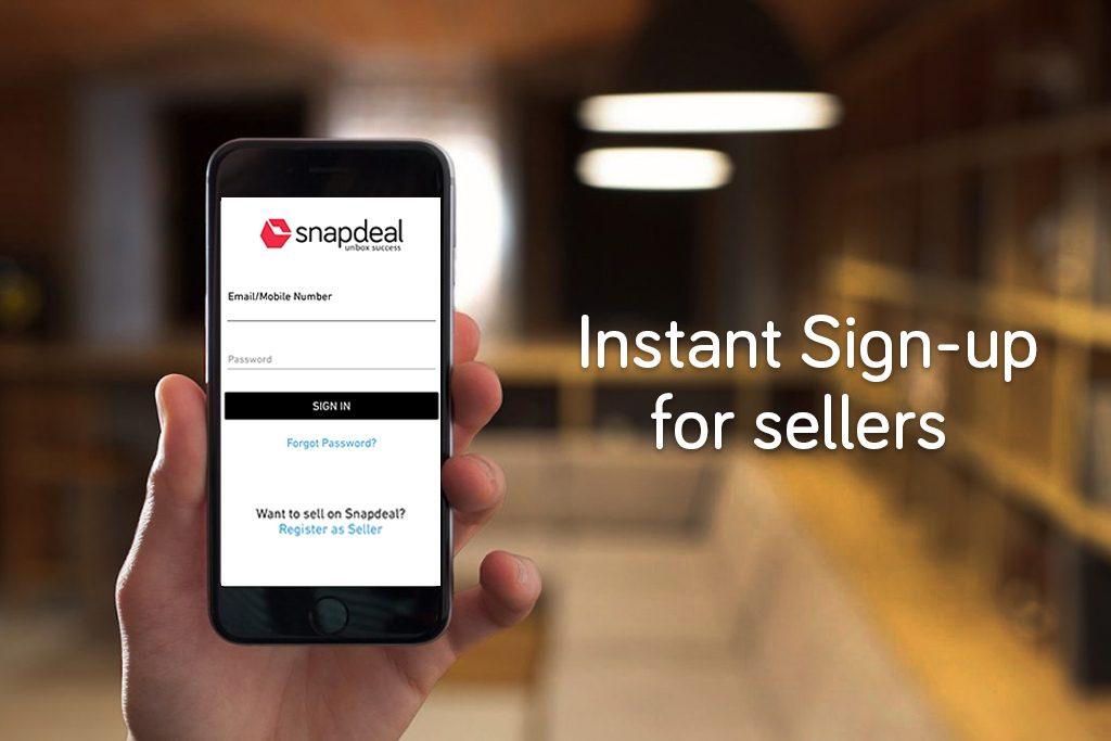 Instant seller sign up