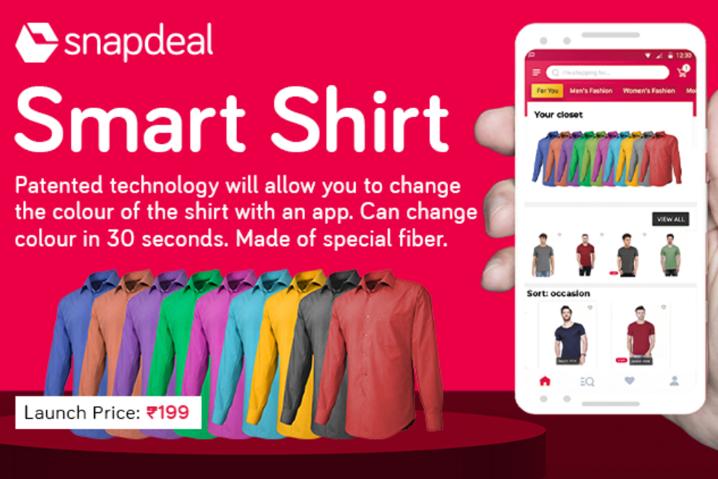 18c5029b557 Silicon Valley start-up launches Smart Shirt on Snapdeal ...